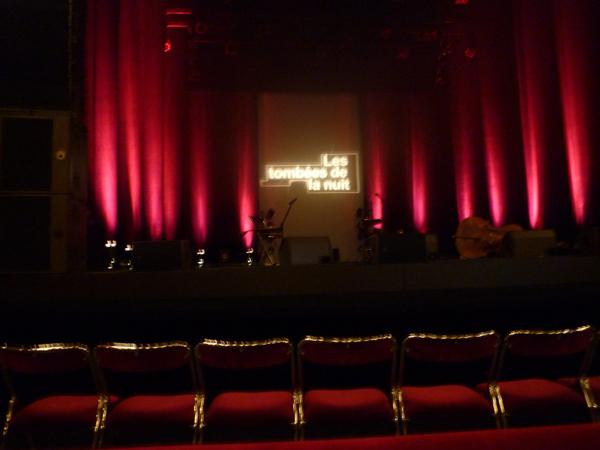 La scène avant le début du concert