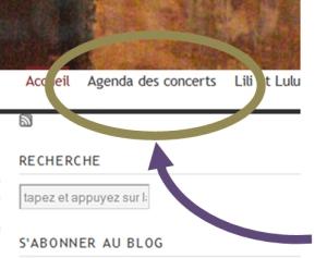 Agenda des concerts
