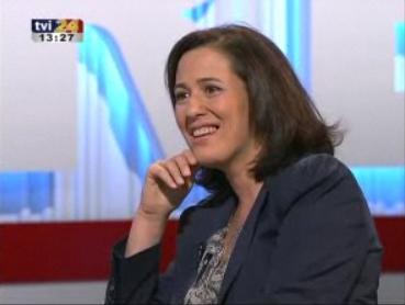 Aldina Duarte. -- TVI24 (27 décembre 2009)