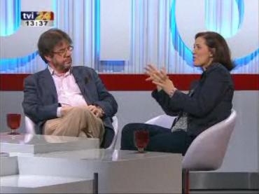 Aldina Duarte et Rui Vieira Nery. -- TVI24 (27 décembre 2009)