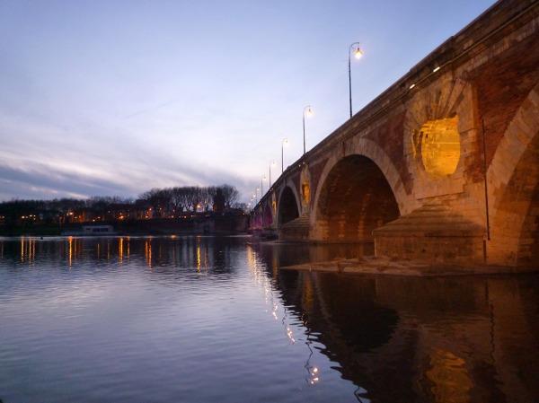 Toulouse, la Garonne au Pont neuf, 7 février 2010
