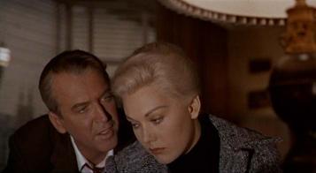 Kim Novak et James Stewart dans « Vertigo » d'Alfred Hitchcock