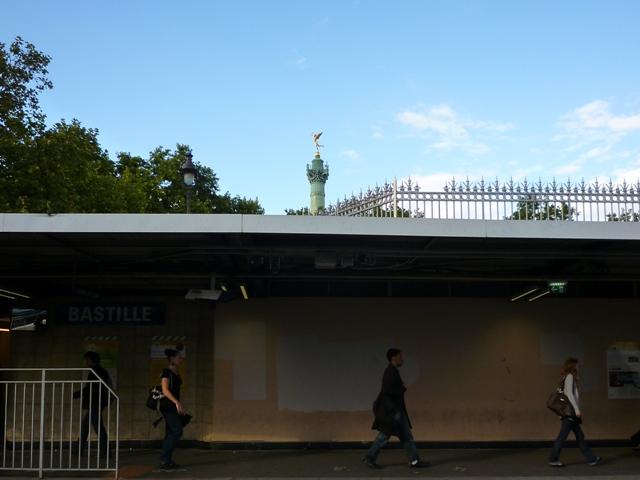 Paris, métro Bastille, 9 septembre 2010