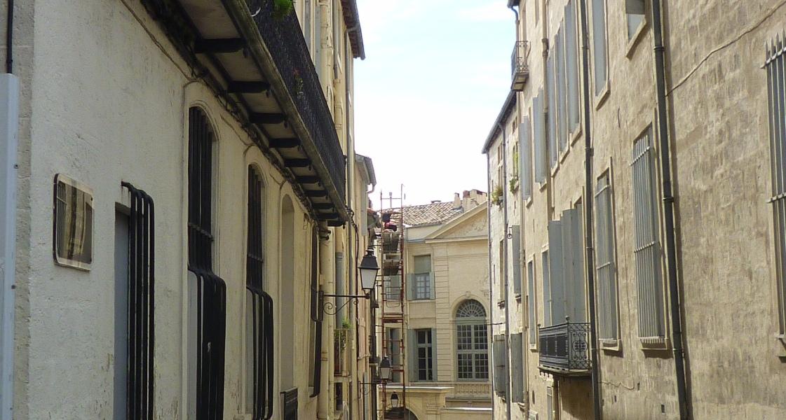 Montpellier, rue des Carmes du Palais, 1er octobre 2010