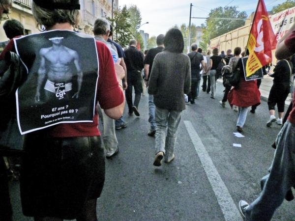 Montpellier, manifestation du 12 octobre 2010