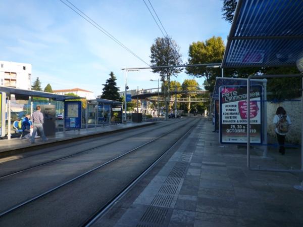 Montpellier, station Stade Philippidès sur la ligne 1, 27 octobre 2010