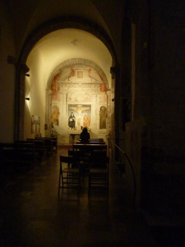 Assise (Ombrie, Italie). Église Santa Maria Maggiore, 8 novembre 2010