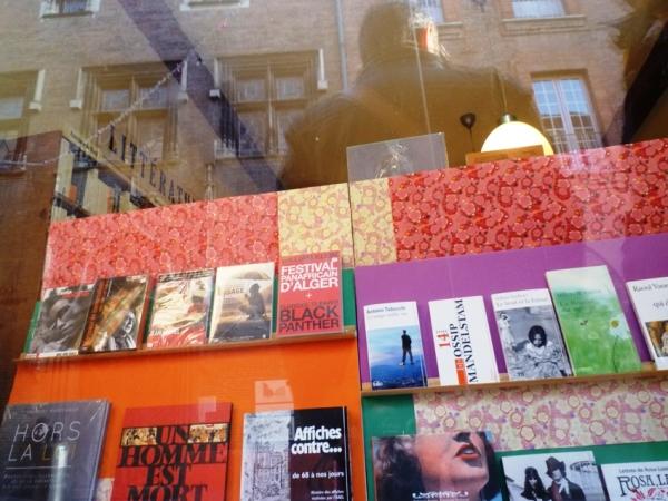 Toulouse, vitrine de la librairie Terra nova, rue Gambetta, 12 décembre 2010