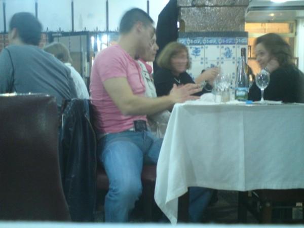 Dans un restaurant du Cais do Sodré, Lisbonne, 12 mars 2011