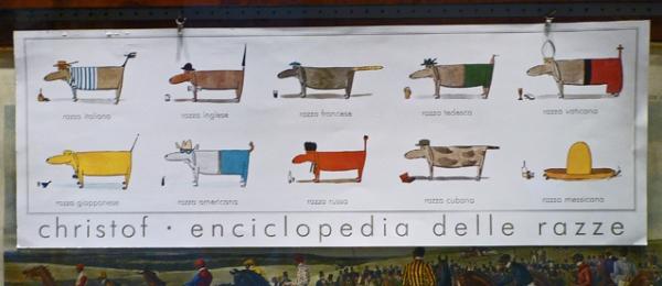 Christof. Enciclopedia delle razze. Dans une vitrine de Sienne, 12 novembre 2010