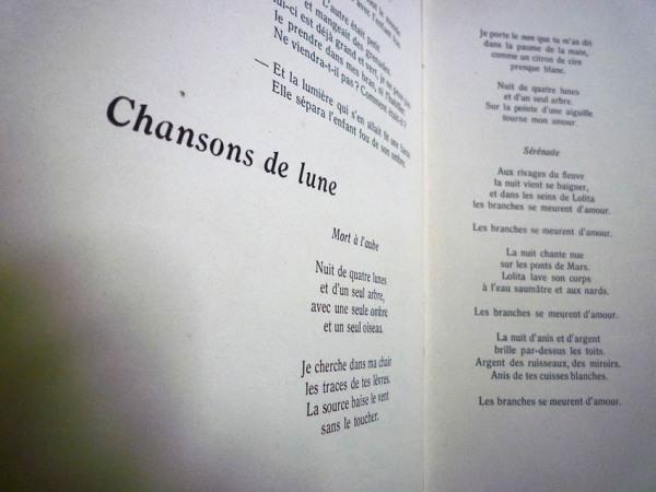 Federico García Lorca (1898 - 1936). Chansons de lune. Traduction de Félix Gattégno. Dans : Cahiers de la loggia = ISSN : 1150-0042, I, novembre 1945.