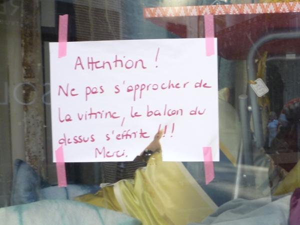 Vitrine, Montpellier, juillet 2011