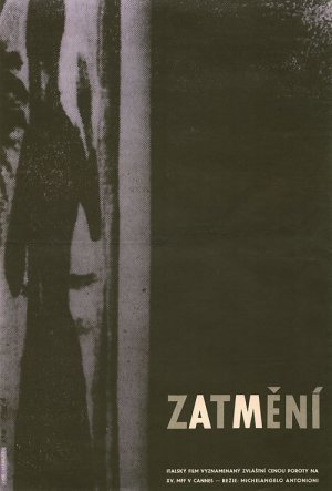 Affiche tchèque du film L'eclisse (L'éclipse) de Michelangelo Antonioni (1962)