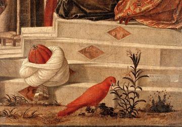 Vittore Carpaccio (1460?-1526?). Il battesimo dei seleniti (1502 ou 1503), détail. Venezia, San Giorgio agli Schiavoni