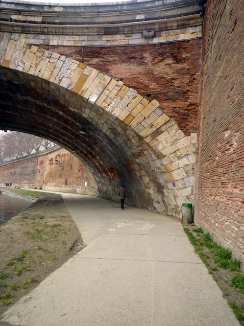 Toulouse, berges de la Garonne rive droite, 25 février 2012