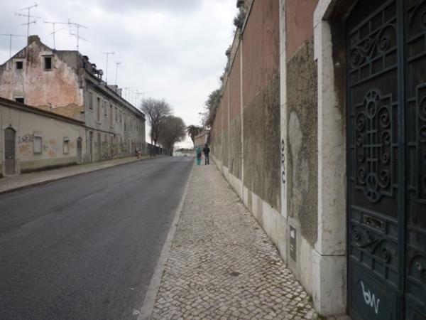 Lisbonne (Portugal), calçada da Cruz de pedra, 16 mars 2012