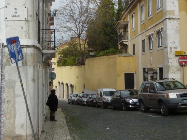 Lisbonne (Portugal), rua da Saudade, 17 mars 2012