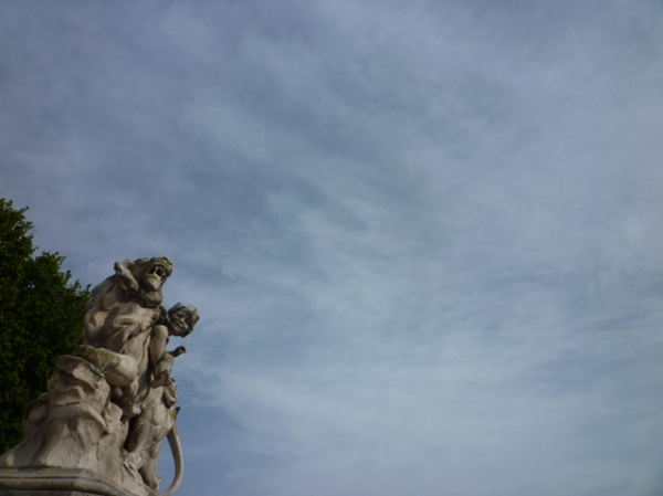 Montpellier, promenade du Peyrou, 27 avril 2012