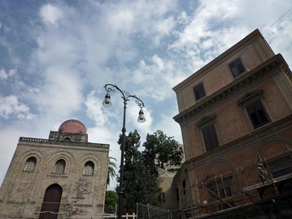 Palerme (Sicile). L'église San Cataldo, 7 mai 2012