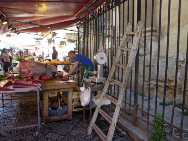 Palerme (Sicile). Marché du Capo, 9 mai 2012