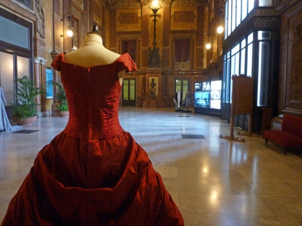 Palerme (Sicile). Foyer du Teatro Massimo, l'opéra de Palerme. 9 mai 2012