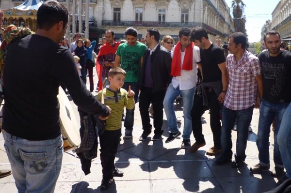 Montpellier, place de la Comédie, 1er mai 2012