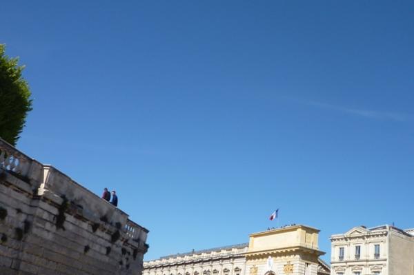 Montpellier, vue depuis la rue Clapiès, 1er mai 2012