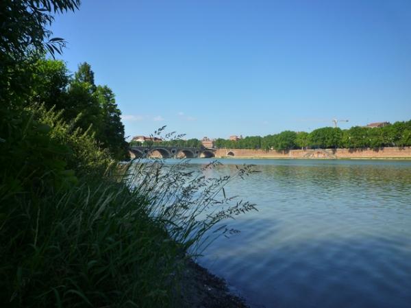 Toulouse, la Garonne depuis la Prairie des Filtres, 15 juin 2012