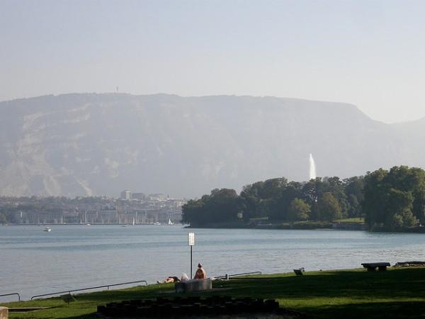 Le Salève vu depuis Genève, par Keeps sur Flickr