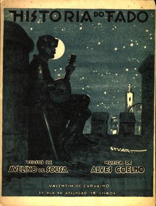 História do fado (partition). Source : Museu do fado (Lisbonne)