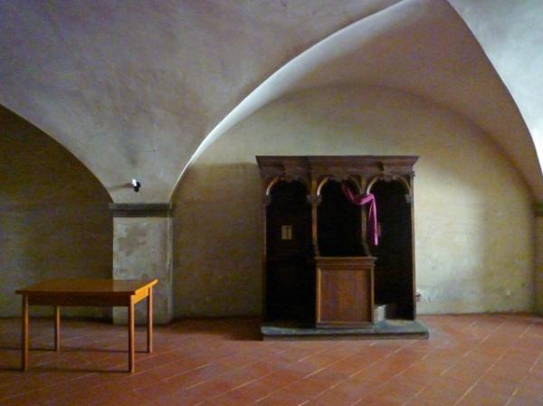 Città di Castello (Ombrie, Italie), Duomo, crypte. 15 juillet 2012