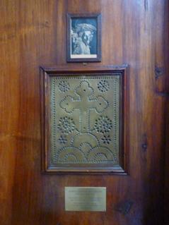 Confessionnal. Spoleto = Spolète (Ombrie, Italie), Duomo. 16 juillet 2012