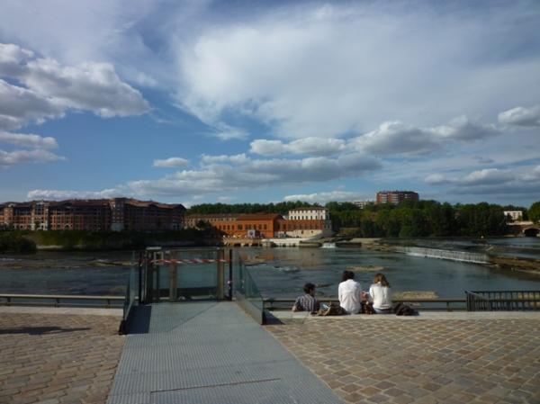 Toulouse, la Garonne. 21 juillet 2012