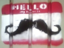 Hello, my name is [moustache] -- Street art, Montpellier