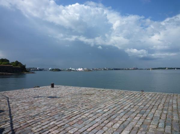 Helsinki (Finlande), vue depuis Suomenlinna, 17 août 2012