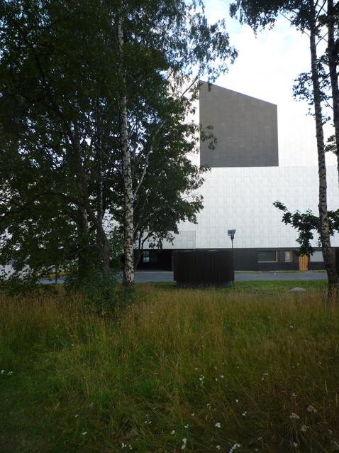 Palais Finlandia, architecte Alvar Aalto (1971-1975), Helsinki (Finlande), 16 août 2012