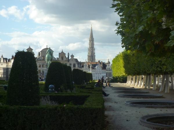 Bruxelles, vue depuis le Mont des Arts, 19 septembre 2012