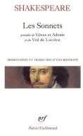Shakespeare. Sonnets (traduction Yves Bonnefoy). Gallimard Poésie
