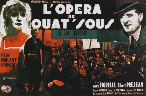 Affiche du film L 'opéra de quat'sous. Georg Wilhelm Pabst, 1931