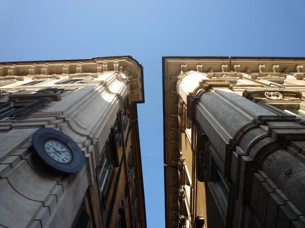 Rome (Italie), via della Gatta / vicolo Doria, 24 décembre 2012