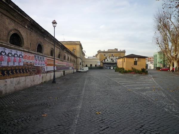 Rome (Italie), anciens abattoirs du Testaccio (aujourd'hui Macro, Musée d'art contemporain de Rome), 25 décembre 2012