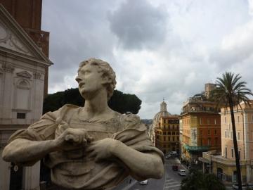 Rome (Italie). Vue (vers l'ouest) depuis la Villa Aldobrandini, 26 décembre 2012