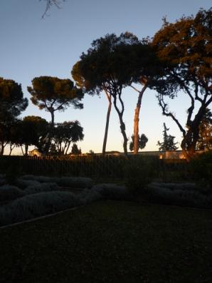 Rome (Italie). Villa Medici (Villa Médicis), 28 décembre 2012