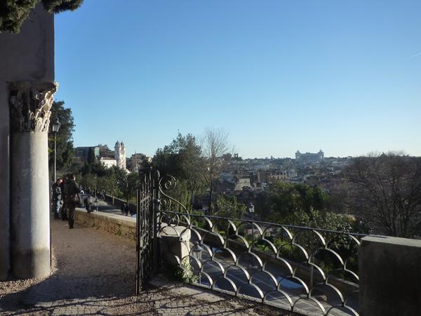 Rome (Italie). Vue depuis le Pincio, 29 décembre 2012
