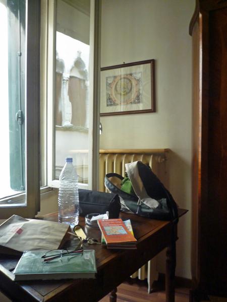 La chambre d'hôtel à Vicenza (Italie), 17 juillet 2013