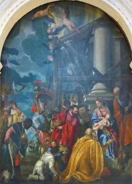 Paolo Veronese (1528-1588). L'adorazione dei magi (vers 1578). Vicenza, église de Santa Corona