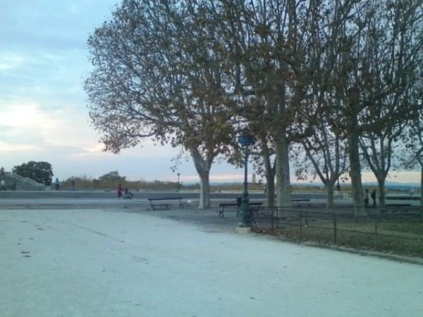 Montpellier (France). Esplanade du Peyrou, 16 novembre 2013