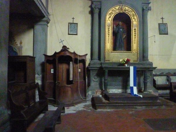 Chiesa di Sant'Agostino, Castiglion Fiorentino (Toscane, Italie), 25 décembre 2013.