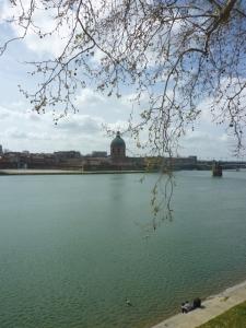 Toulouse (France), la Garonne, 31 mars 2014