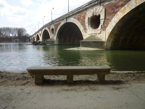 Toulouse (France), la Garonne sous le Pont neuf, 31 mars 2014